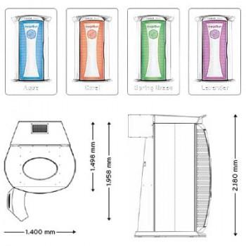 Вертикальный солярий «MegaSun Tower Space 3000»
